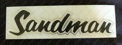 Sandman Pillar Decal, HQ HJ - Custom Made Colour Combo Black/Chrome