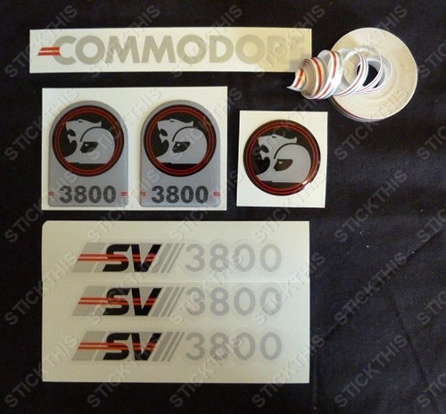 SV3800 Complete Body Decal, Stripe and Badge Kit, VN