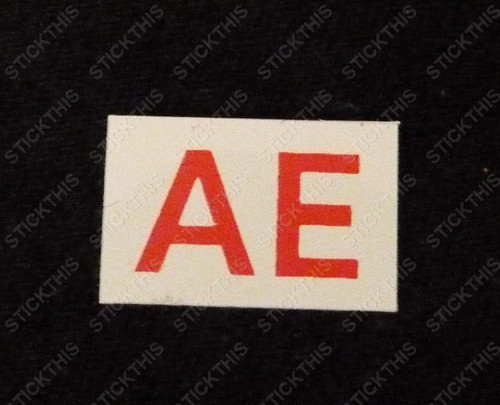 Starter Motor Parts Picking Label, AE - Red 253 and 308 Engines.