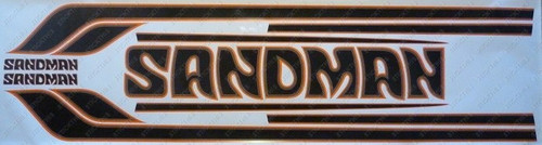 Sandman Stripe and Decal Kit , DY1 (Orange, Brown, Dark Brown) - HX, HZ