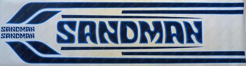Sandman Stripe and Decal Kit , DY4 (White, Mid Blue, Dark Blue) - HZ