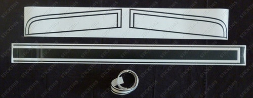 HQ GTS Paint Mask Stripe Kit, Front End Only. (ute/van)