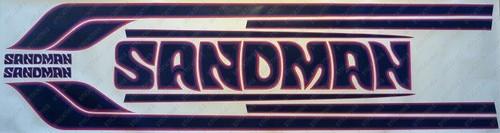Sandman Stripe and Decal Kit , DX5 (Plum, Purple, Dark Blue) - HX