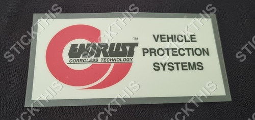 Endrust - Vehicle Protection System Decal