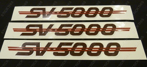 SV5000 Complete Body Decal and Stripe Kit, VN - Maroon