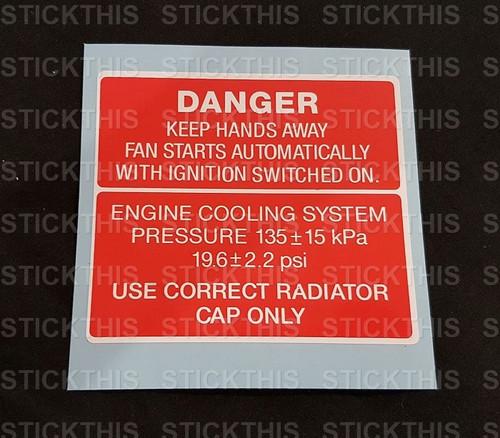 Fan Warning Decal VN VG VP VR VS VQ - V6