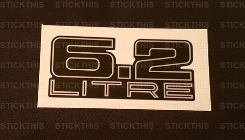 Boot Badge V8 6.2 Litre - Flat Decal