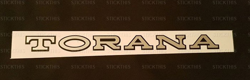 Torana LH Bonnet Badge - Flat Decal