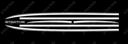 Holden HG 350 Coupe Monaro GTS - Side Winder Stripe Kit (Decals) 1970-71