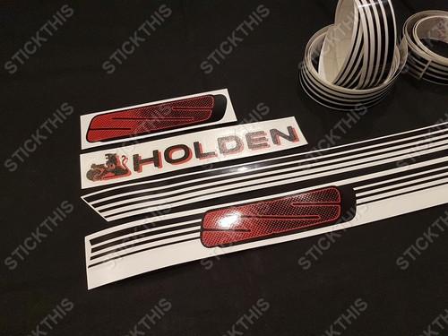 VN SS Custom Stripe Kit Red and Black