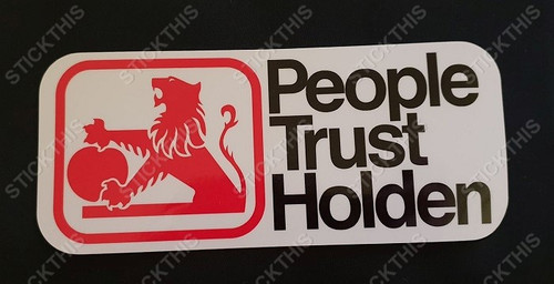 People Trust Holden - Late 1970's and 1980's