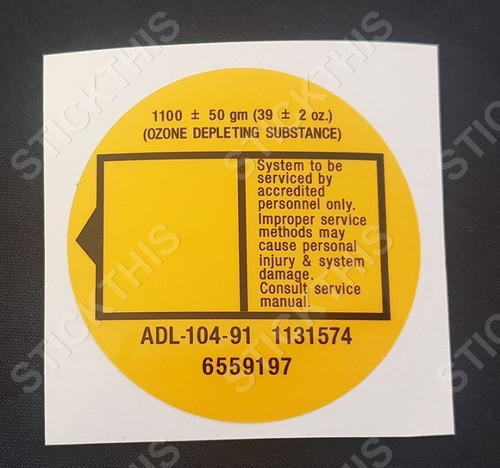 VN VP Air Conditioning Receiver Dryer Decal - Style 2