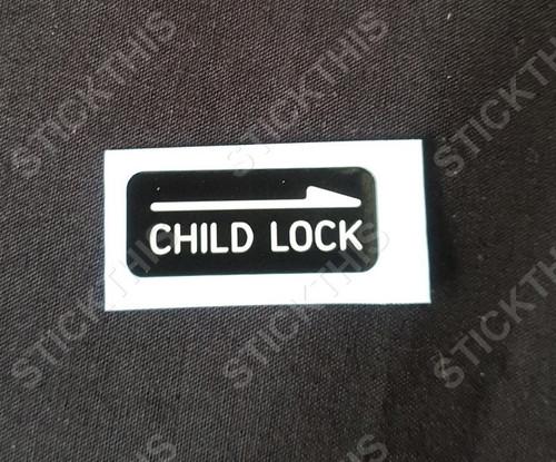 Child Lock Door Decal VS