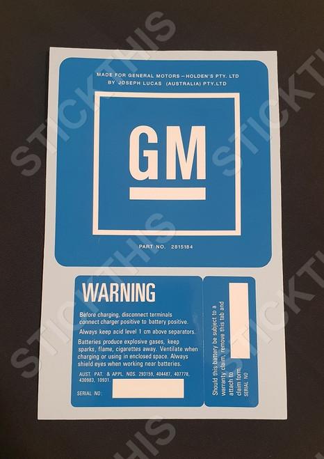 GM Battery Lucus HX