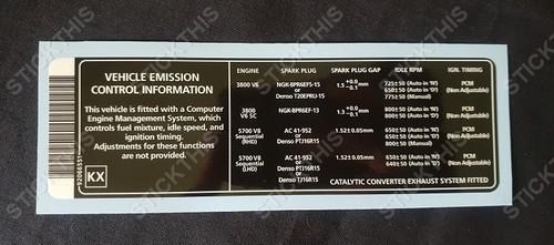 Vehicle Control Information 92066551 KX (VX V2 WH)