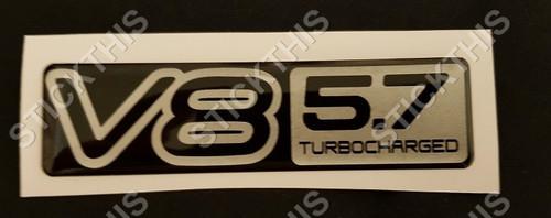 VP Guard Boot Badge V8 5.7 Turbocharged