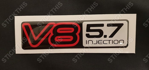 VN V8 5.7 Injected Boot Badge
