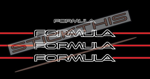 VN Formula Sedan Body Decals and Pinstripe