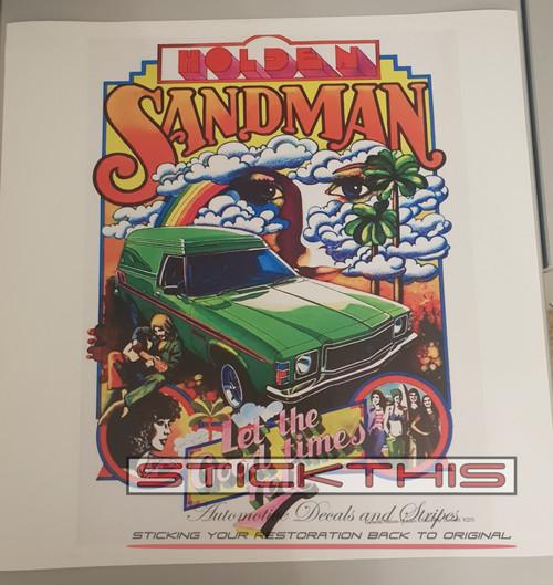 HX Sandman Advertising Print onto Canvas - 350mm x 470mm