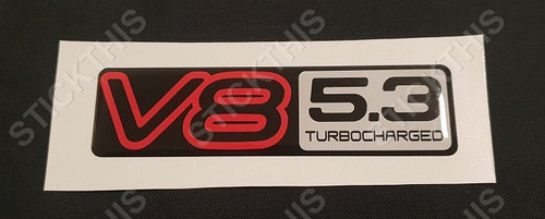 VN V8 5.3 Turbocharged Boot Badge