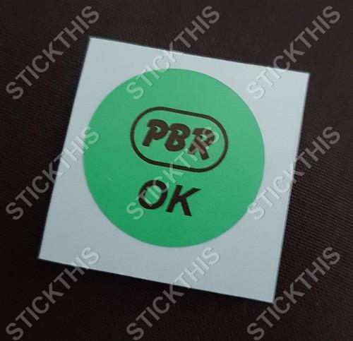 PBR OK Decal Green - WB Brake Booster