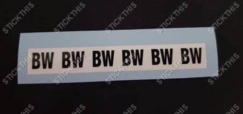 Picking Label BW - VL Fuel Line Near Fuel Tank Tag