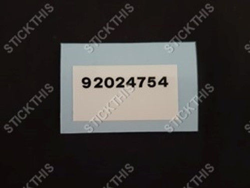 Picking Label VL Rear Sway Bar 92024754