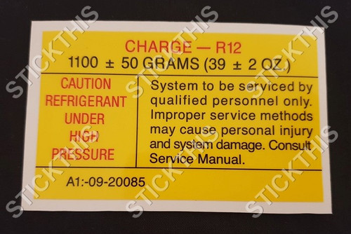 VN VP Air Conditioning Receiver Dryer Decal - Style 3