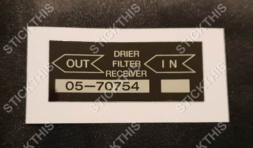 VK Air Conditioning Receiver Drier Decal