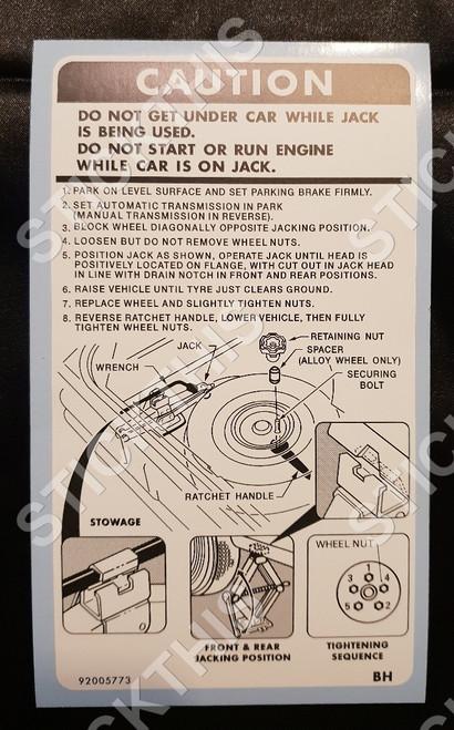 Jack Instruction Decal - UC Hatch
