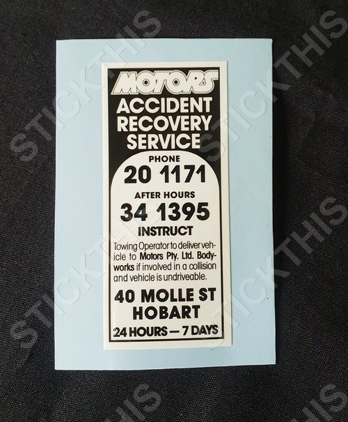 Motors Accident and Recovery - Hobart TAS
