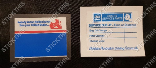 Service Lube Decal - Nobody Knows Holden x1