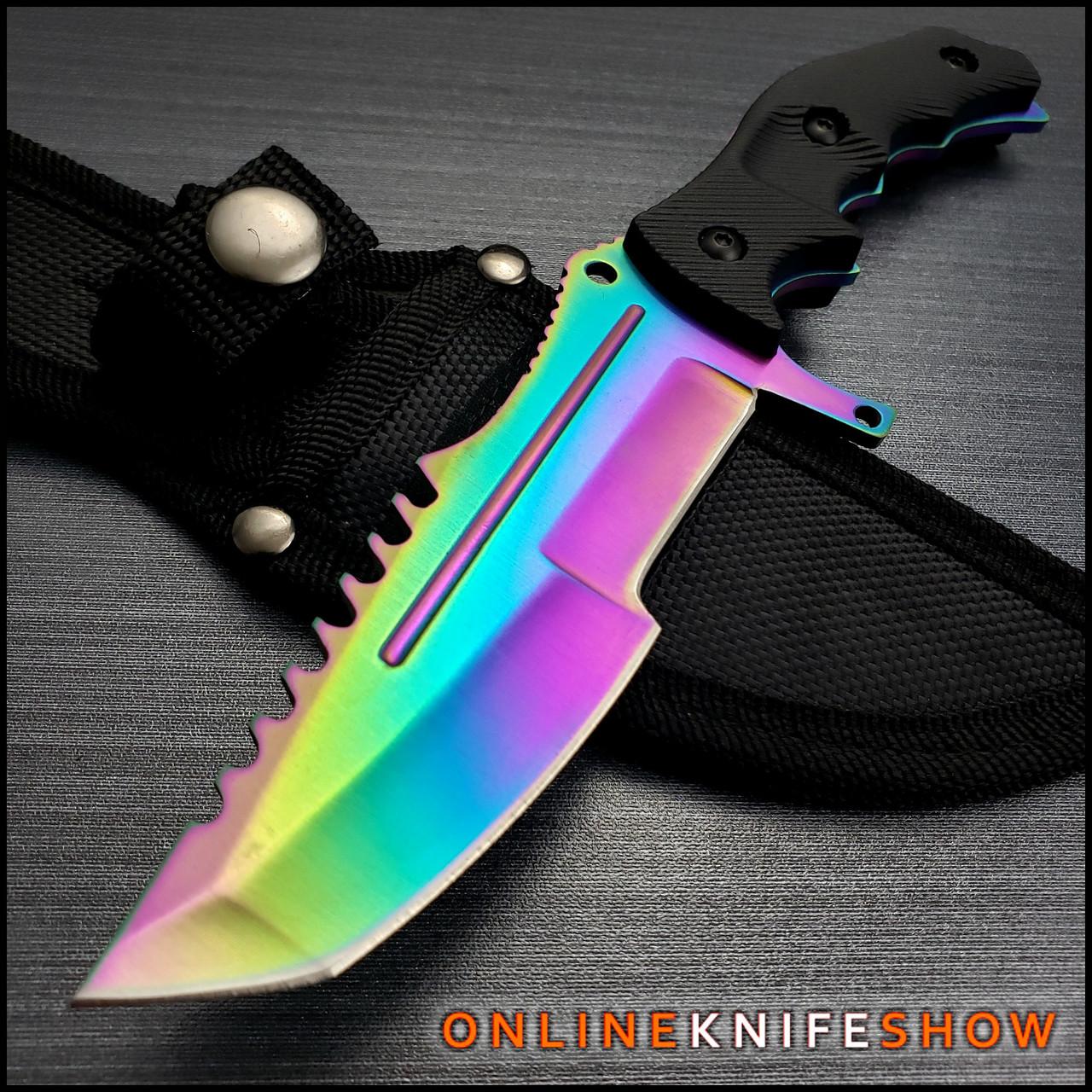 Rainbow Huntsman Knife
