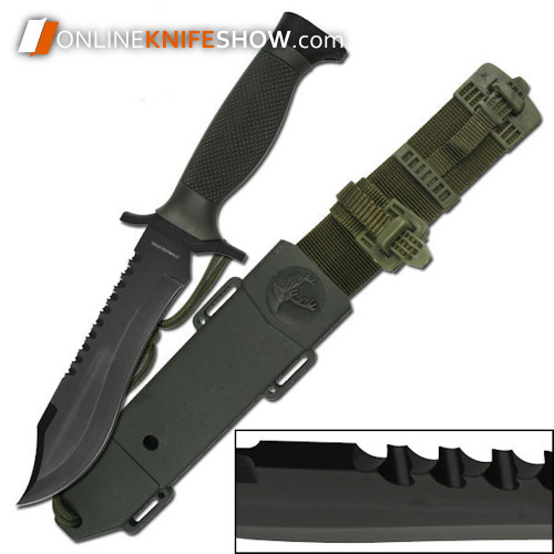 12in Tactical Bowie Survival Hunting Knife w/ Sheath Military Combat Fixed Blade + Sheath