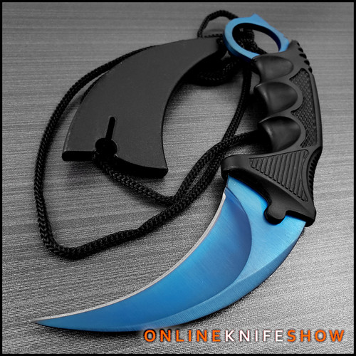 se-0223bl-karambit-knife-csgo-blue-steel