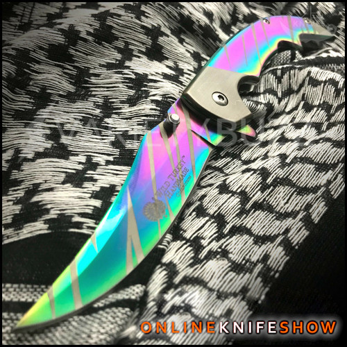 se-0523rb - rainbow pocket knife