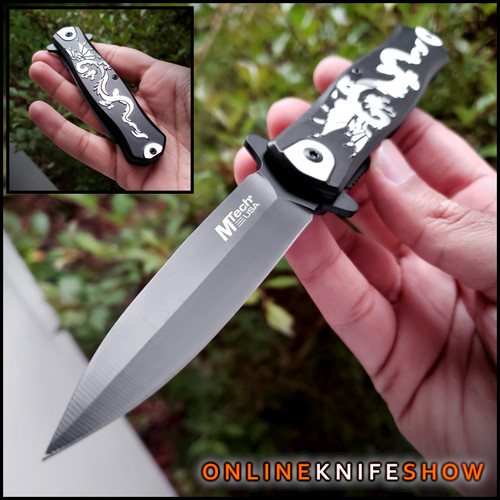 mt-a991dbk-mtech-knives-tactical-stiletto-spring-assisted-knife