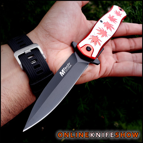 mt-a991mrd-mtech-knives-tactical-stiletto-spring-assisted-knife