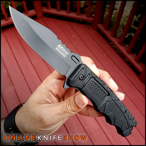 mt-a909BK-mtech-knives-tactical-black-spring-assisted-knife
