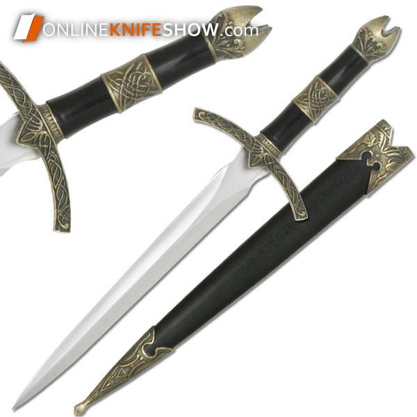 "13.5"" King Arthur Medieval Historical Short Sword Dagger Knife Knight Scabbard + Sheath"