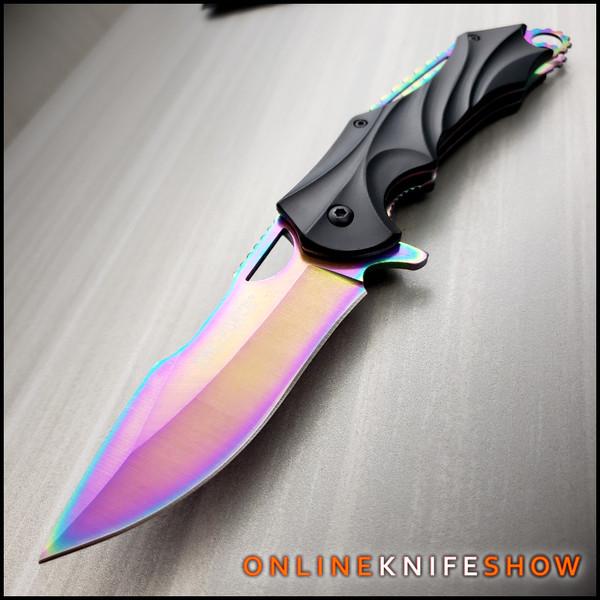 TF-858RB rainbow knife