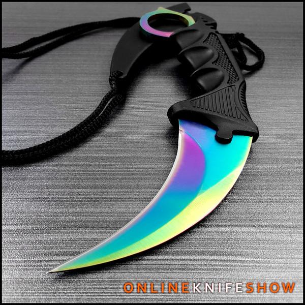 sz-211431rb-fixed-blade-rainbow-fade-karambit-knife-cs-go