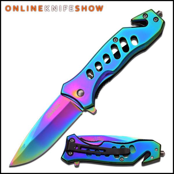 TF-844 - Rainbow Pocket Knife For Sale