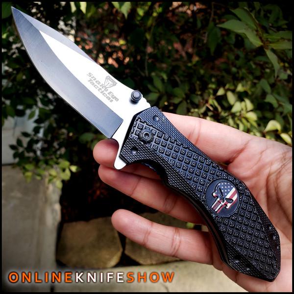 se-1151bk-american-flag-skull-pocket-knife-for-sale