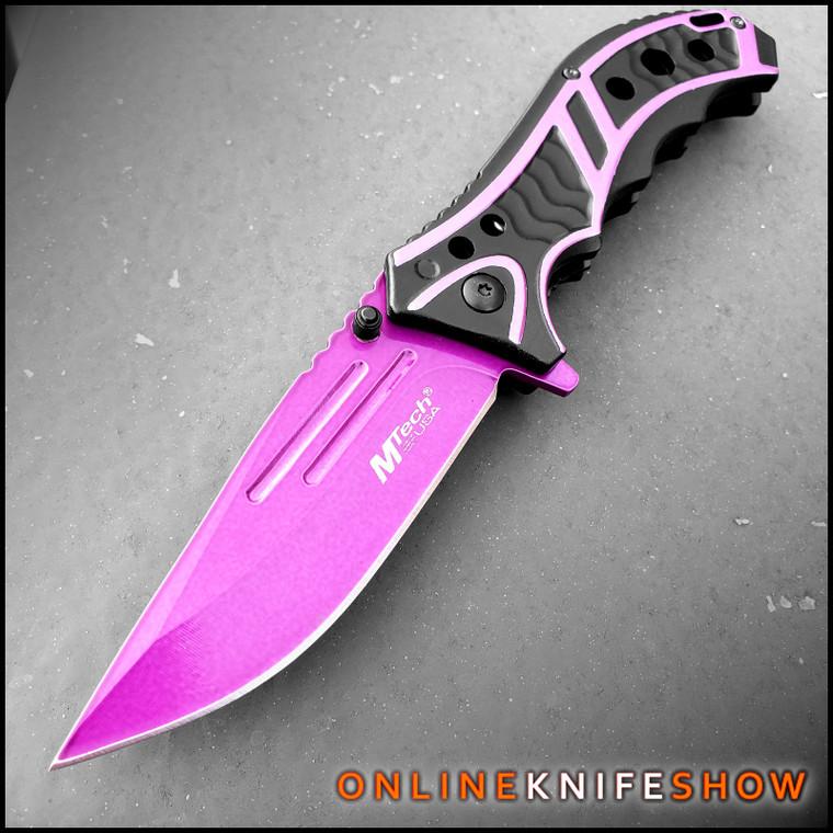 mt-a907pe - pink pocket knife