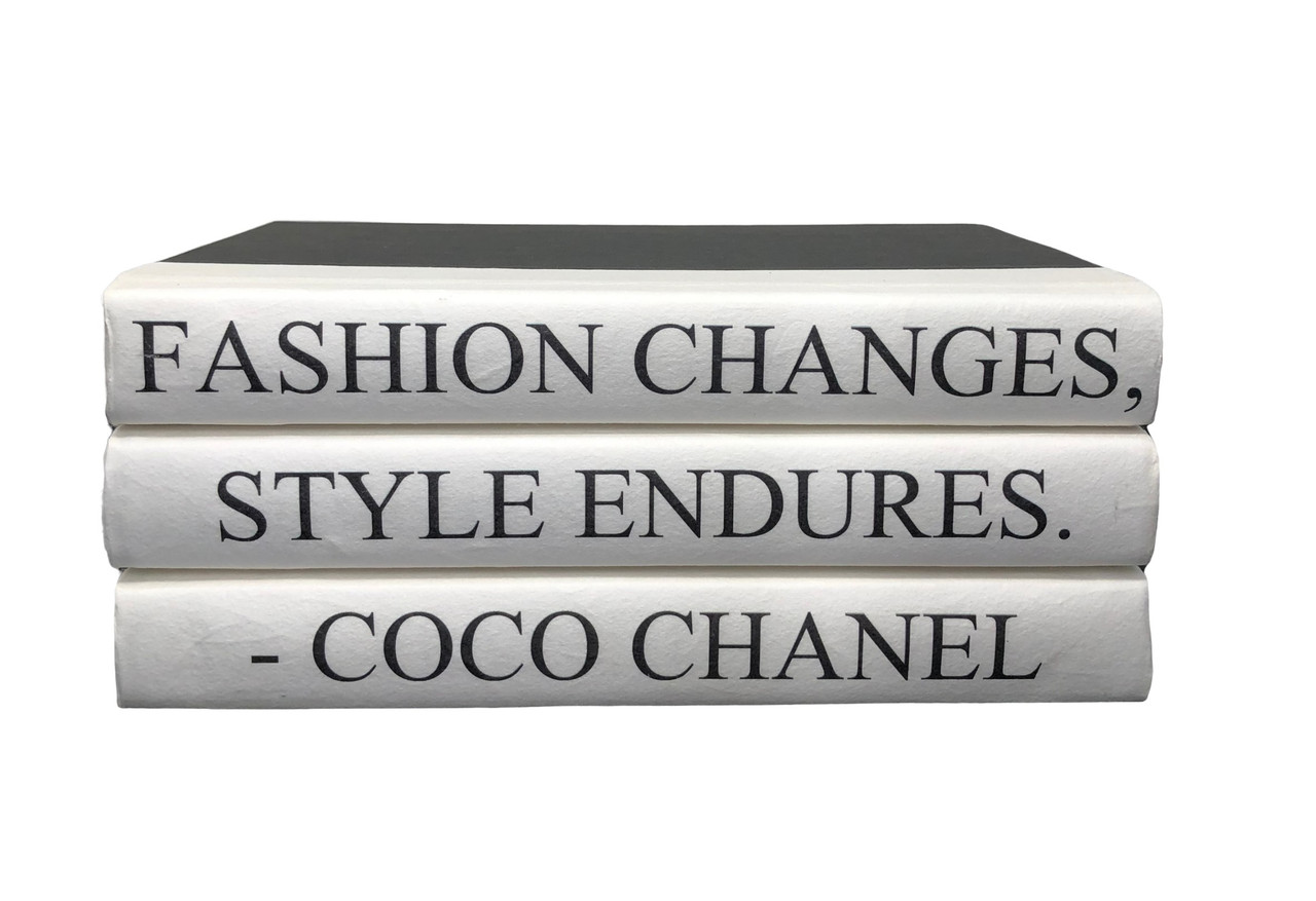 3 Vol Fashion Changes Coco Chanel Quote Black Cover 9 5 Wide Approx 3 75 Tall E Lawrence Ltd