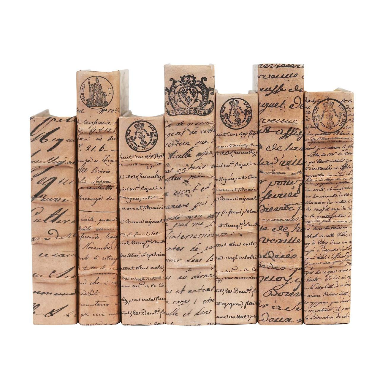 Antique Script on Tea Handmade Parchment