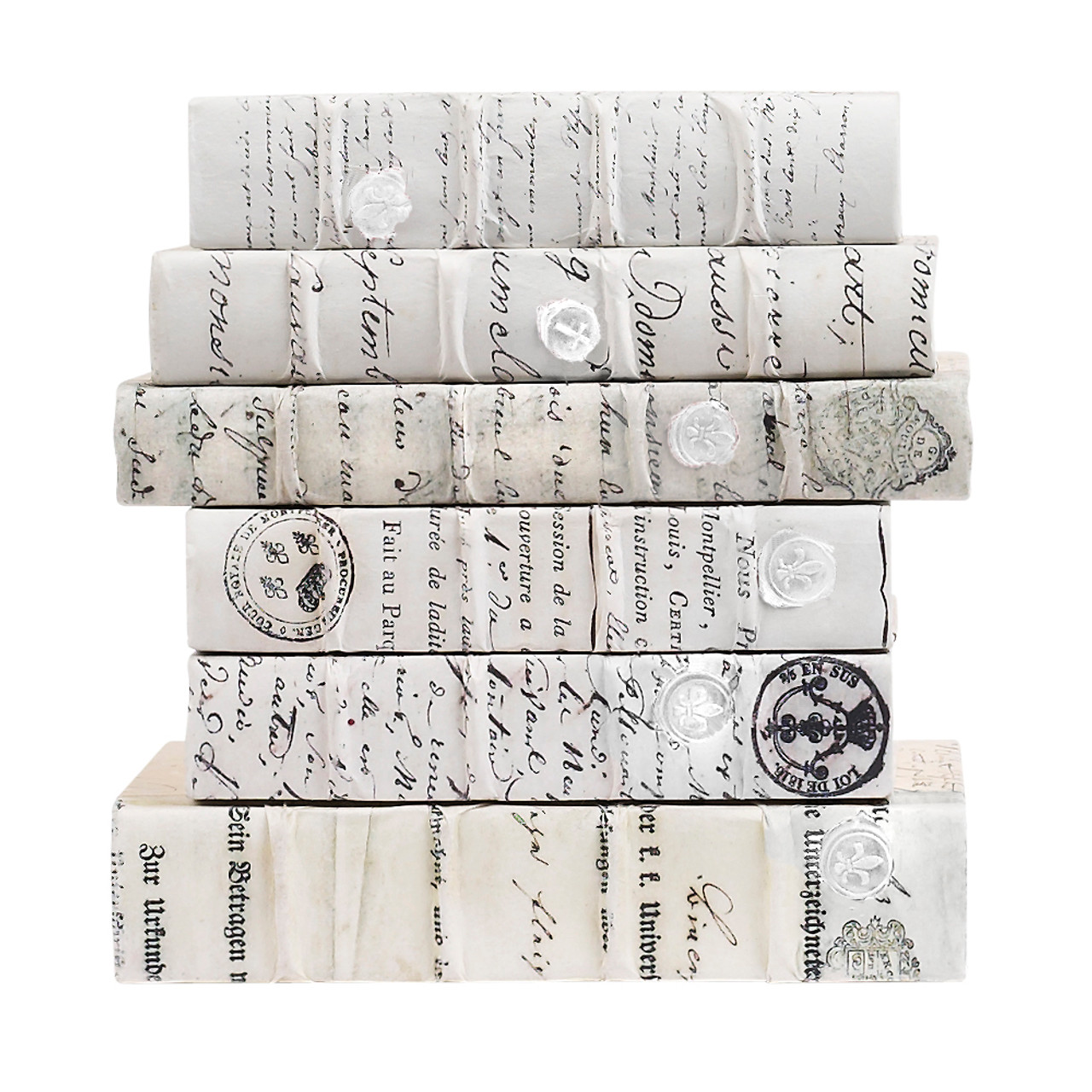 Antique Script w/ White Wax Seal-LG -priced by the book