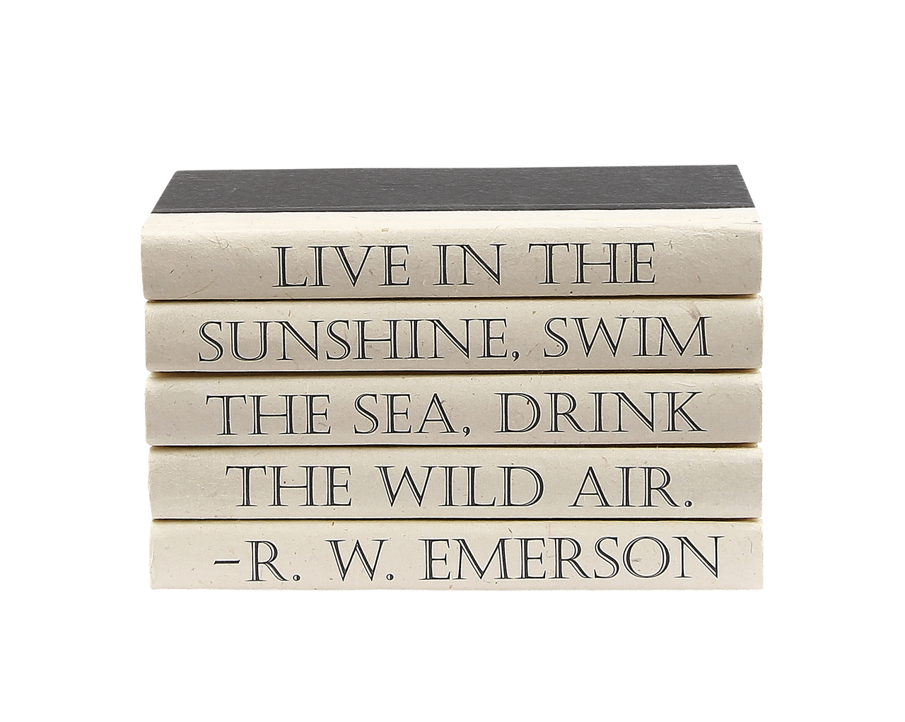 5 Vol R W Emerson Live In The Sunshine Black Covers 9 5 Wide Approx 6 25 Tall E Lawrence Ltd