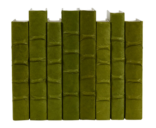 0122d3f1a79 Dark Olive Green parchment bound books- by the linear foot - E ...